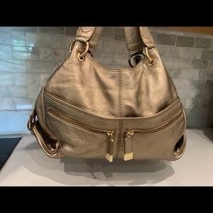 Michael Kors Leather XL Gold Layton 3 Slot Bag